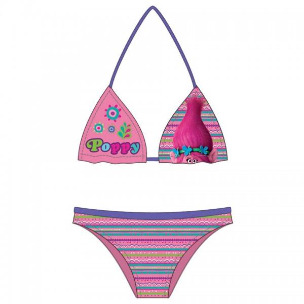 Trolls bikini - maat 122-128 - 8 jaar - roze