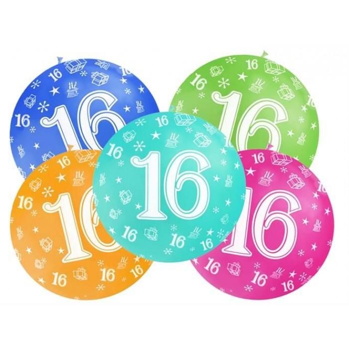 ballonnen 16 jaar Ballonnen 16 jaar   Mega Ballon   92cm   1 stuk kopen?   VerraXL  ballonnen 16 jaar