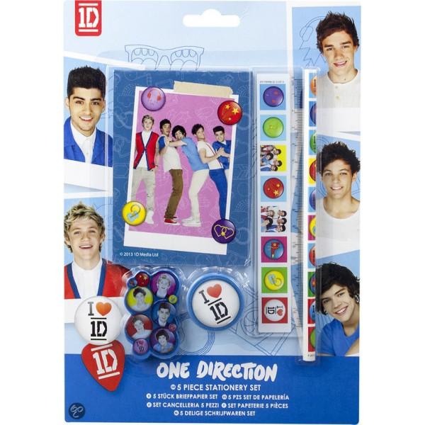 One Direction 5-dlg Stationeryset S13-643