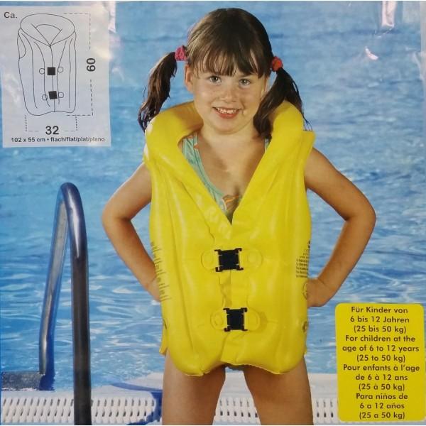 Zwemvest Kinderen 6-12 jaar - Geel | 60x32cm