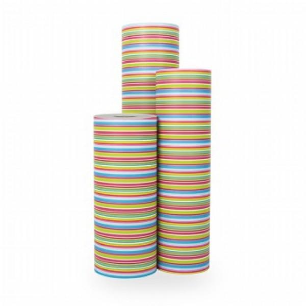 Cadeaupapier Color Stripe - Rol 30cm - 250m - 70gr