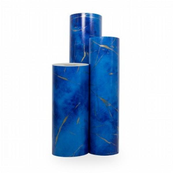 Cadeaupapier Blauw-Goud - Rol 30cm - 200m - 70gr