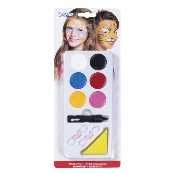Kit make-up Jongen/Meisje - make-up, 1 spons en 2 penselen