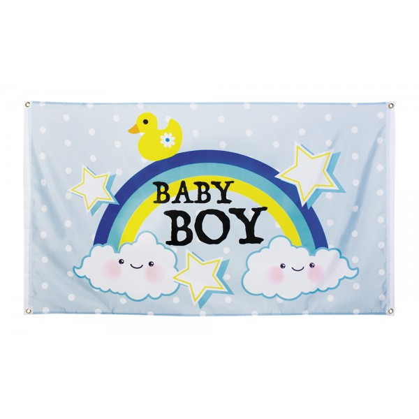 Polyester vlag - Baby boy - 90x150cm