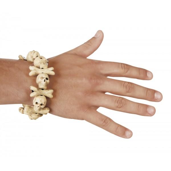 Armband Schedel botten