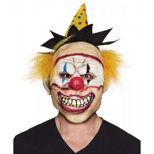 Masker - Enge Clown met hoed en haar - Latex